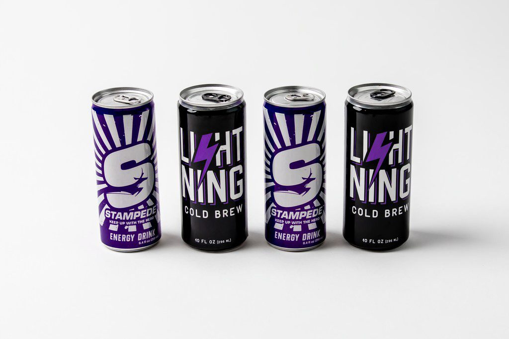 Four cans of Stampede and Lightning